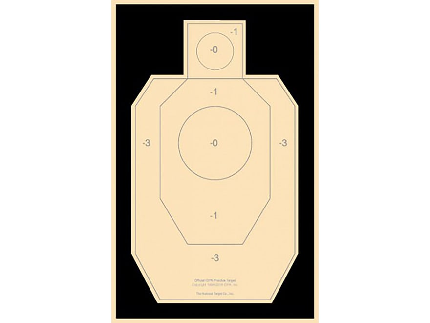 graphic regarding Printable Dry Fire Targets identify Nationwide Concentrate Educate IDPA Concentrate Paper Pack of 100