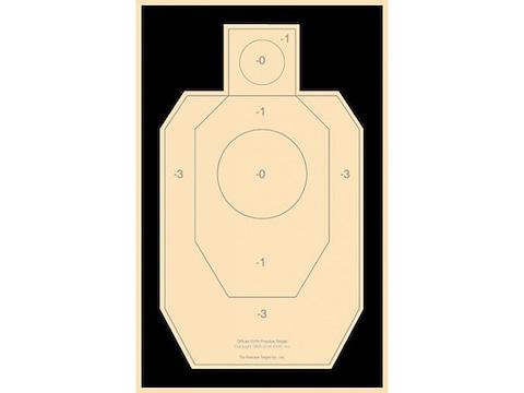 National Target Practice IDPA Target Paper Pack of 100