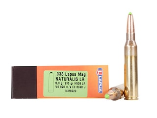 Lapua Naturalis Ammunition 338 Lapua Magnum 230 Grain Polymer Tip Lead-Free Box of 10