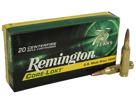Remington Core-Lokt Ammunition 243 Winchester 100 Grain Core-Lokt Pointed Soft Point Bo...