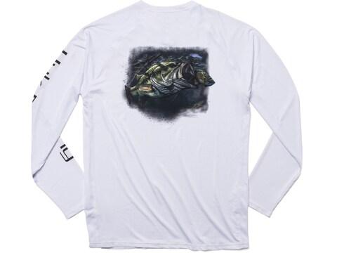 Huk Men's Pursuit Bass and Blue Long Sleeve T-Shirt