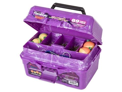 Flambeau Big Mouth 89-Piece Tackle Box Kit Purple Swirl