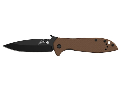 """Kershaw Emerson CQC-4K Folding Knife 3.25"""" Clip Point 8Cr13 Black Stainless Steel Blade..."""