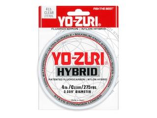 Yo-Zuri Hybrid  Fluorocarbon Fishing Line 4lb 275yd Clear