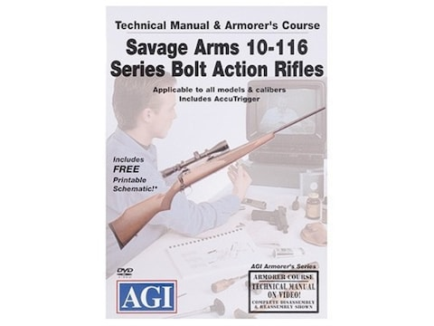 """American Gunsmithing Institute (AGI) Technical Manual & Armorer's Course Video """"Savage ..."""