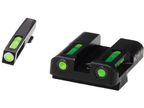 HIVIZ LiteWave H3 Night Sight Set Glock Large Frame 3-Dot Tritium Green Litepipe with W...