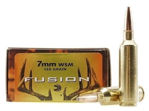 Federal Fusion Ammunition 7mm Winchester Short Magnum (WSM) 150 Grain Bonded Spitzer Bo...