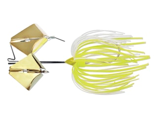 Terminator Super Stainless Tandem Buzzbait 3/8oz Chartreuse White Shad Gold/Gold