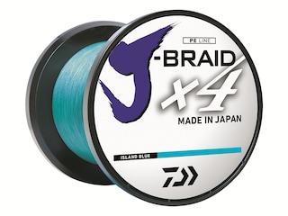 Daiwa J-Braid X4 Braided Fishing Line 80lb 300yd Island Blue