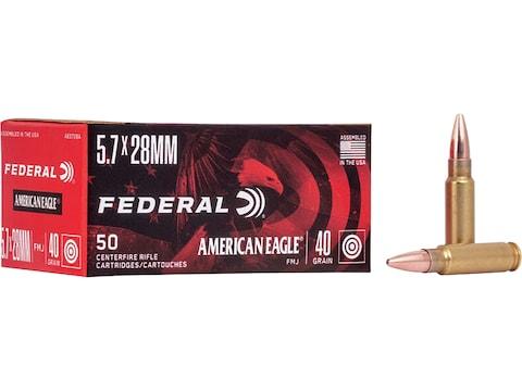 Federal American Eagle Ammunition 5.7x28mm FN 40 Grain Full Metal Jacket