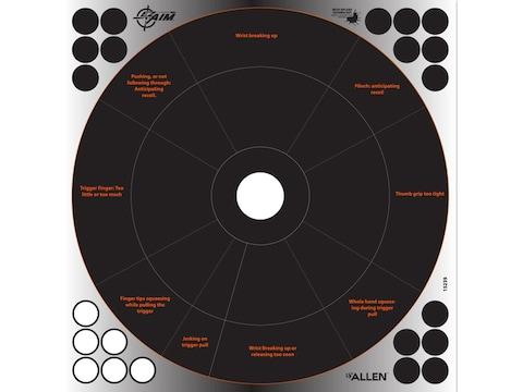 "Allen EZ-Aim Reflective Splash Adhesive 12"" Handgun Trainer Target Pack of 4"
