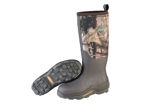 "Muck Woody Max 17"" Hunting Boots Rubber/Nylon Mossy Oak Break-Up Country Camo Men's"