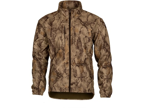 Natural Gear Men's Windproof Fleece Jacket Long Sleeve Polyester