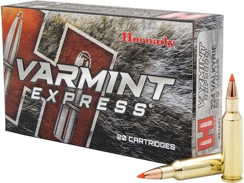 Hornady Varmint Express Ammunition 224 Valkyrie 60 Grain V-Max Box of 20