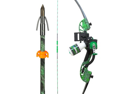 AMS Water Moc Recurve Bowfishing Bow Package  40 lb Right Hand with Retriever Pro Tourn...