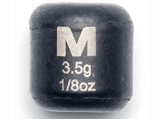 Mustad Carolina Weight 1/8oz Tungsten Black 4Pk