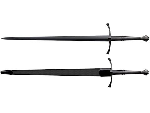 "Cold Steel MAA Italian Long Sword 35-1/2"" 1055 Carbon Steel Blade Leather Handle"