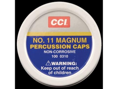 CCI Percussion Caps #11 Magnum Box of 1000 (10 Cans of 100)