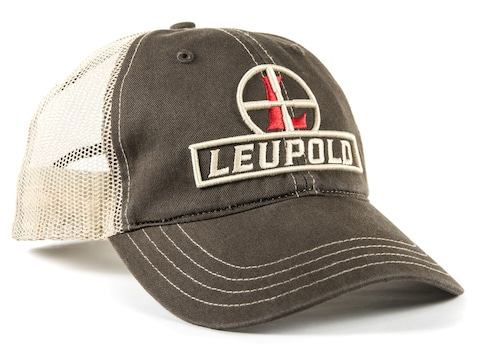 Leupold Reticle Logo Unstructured Trucker Hat Brown/Khaki