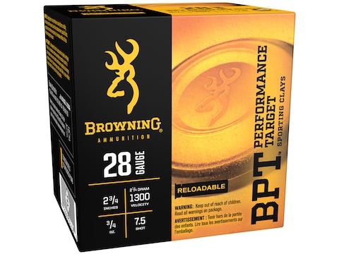 "Browning BPT Target Ammunition 28 Gauge 2-3/4"" 3/4 oz #7.5 Shot Box of 25"