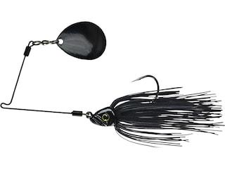 Picasso Inviz Wire Pro Night Thumper Single Colorado Spinnerbait 3/8oz Black Black