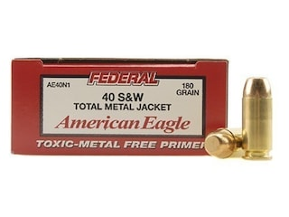 Federal American Eagle Ammunition 40 S&W 180 Grain Total Metal Jacket Case of 1000 (20 Boxes of 50)