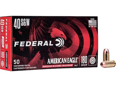 Federal American Eagle Ammunition 40 S&W 180 Grain Total Metal Jacket