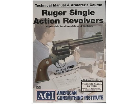 """American Gunsmithing Institute (AGI) Technical Manual & Armorer's Course Video """"Ruger S..."""