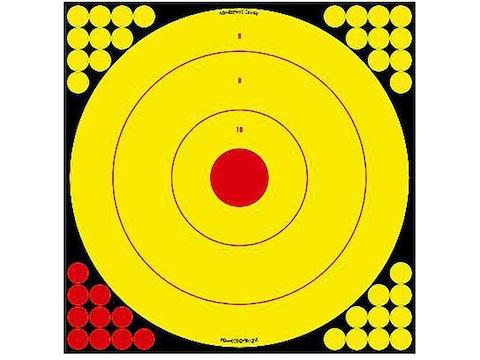 "Birchwood Casey Long Range 17.75"" Bullseye Target Pack of 5 with 200 Pasters"