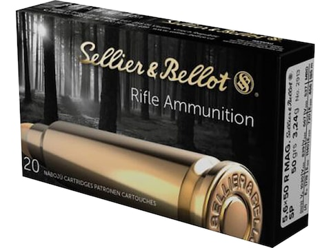 Sellier & Bellot Ammunition 5.6x50mm Rimmed 50 Grain Jacketed Soft Point
