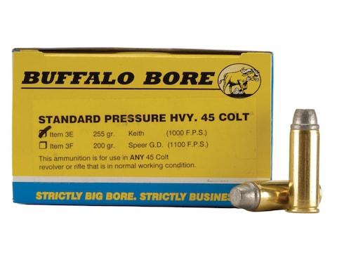 Buffalo Bore Ammunition Outdoorsman 45 Colt (Long Colt) 255 Grain Lead Semi-Wadcutter G...