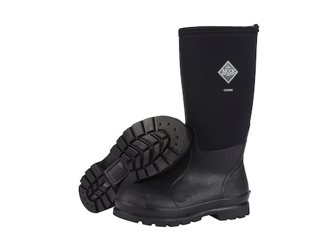 "Muck Chore Hi 15"" Insulated Work Boots Rubber and Nylon Black Men's"