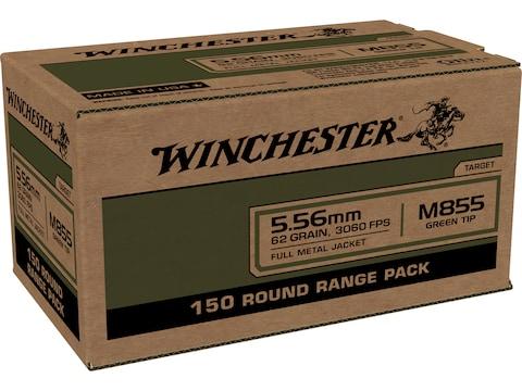 Winchester Ammunition 5.56x45mm NATO 62 Grain M855 SS109 Penetrator Full Metal Jacket
