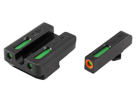 TRUGLO TFX Pro Sight Set Walther P99, PPQ Tritium / Fiber Optic Green with Orange Front...