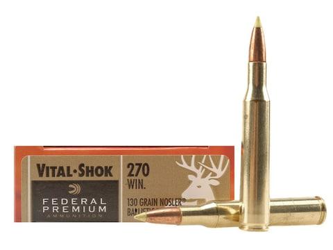 Federal Premium Ammunition 270 Winchester 130 Grain Nosler Ballistic Tip Box of 20