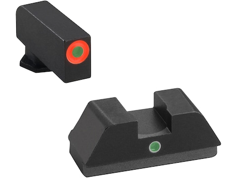 Ameriglo I-Dot Night Sight Set Glock 42, 43, 43X Tritium Green Dot Front with Orange Ou...