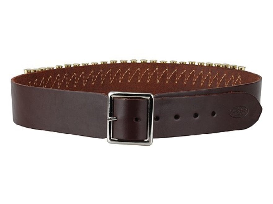 Hunter 165 Western Drop Belt with Conchos 45 Caliber Leather Antique Brown
