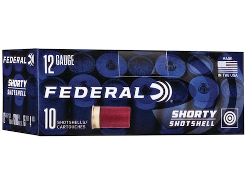 "Federal Shorty Shotshell Ammunition 12 Gauge 1-3/4"" #4 Buckshot 15 Pellets"
