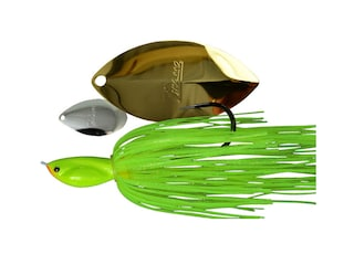 Picasso Inviz Wire Tandem Thunder Willow UL Wire Spinnerbait 3/8oz Chartreuse Nickel/Gold