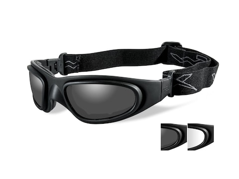 Wiley X SG-1 Tactical Goggles with Top Down Ventilation Clear, Smoke Lenses