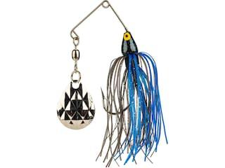 Strike King Mini-King Single Colorado Spinnerbait 1/8oz Black Blue Head/Black Blue Skirt Nickel