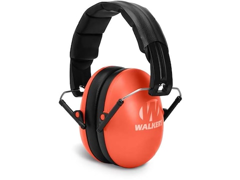 Walker's Low Profile Youth and Women's Passive Folding Earmuffs (NRR 23dB) Coral