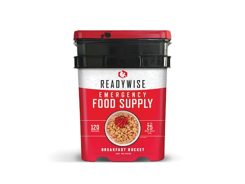 ReadyWise Stocking Up 120 Serving Breakfast Freeze Dried Food Bucket