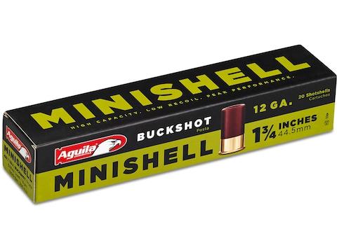 "Aguila Minishell Ammunition 12 Gauge 1-3/4"" #4 and #1 Buckshot 11 Pellets"