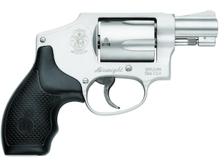 """Smith & Wesson Model 642 (No Internal Lock) Revolver 38 S&W Special +P 1.875"""" Barrel 5-Round Stainless, Synthetic Black"""