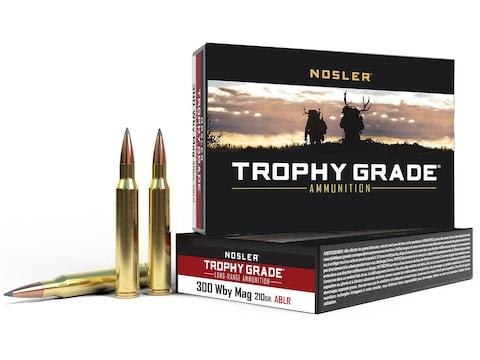 Nosler Trophy Grade Ammunition 300 Weatherby Magnum 210 Grain AccuBond Long Range Box o...