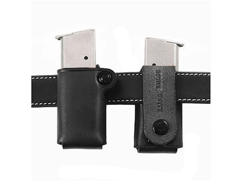 Galco Single Magazine Pouch 40 S&W, 9mm Double Stack Polymer Magazine Leather