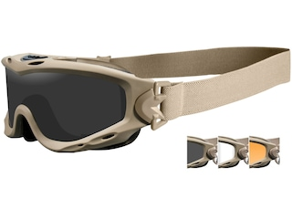 Wiley X Spear Tactical Goggles Tan Frame/Smoke Gray, Clear, & Light Rust Lenses