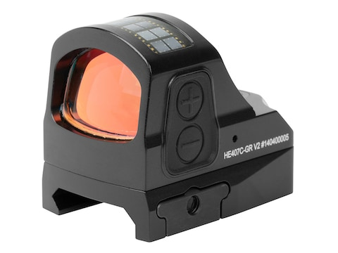 Holosun HE407C-GR-V2 Elite Reflex Sight 1x Green 2 MOA Dot Reticle Picatinny-Style Moun...