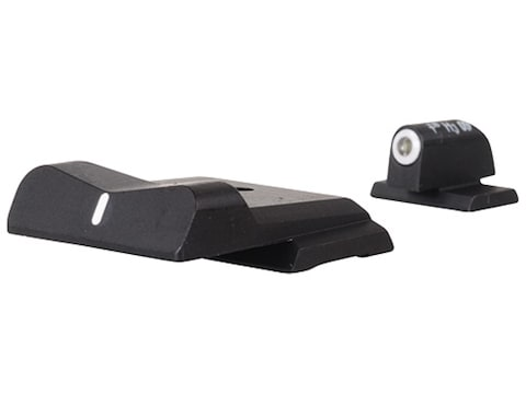 XS DXW Night Sight Set S&W M&P Steel Tritium Standard Dot Front White Stripe Rear